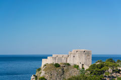 Fort Lovrijenac is a fortress outside the western wall of Dubrovnik Royalty Free Stock Images