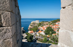 Fort Lovrijenac is a fortress outside the western wall of Dubrovnik Stock Photos