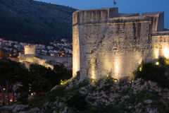 Fort Lovrijenac at night. Dubrovnik. Croatia Stock Photography