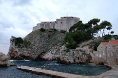 Fort Lovrijenac or St. Lawrence Fortress in Dubrovnik. Croatia Royalty Free Stock Photos