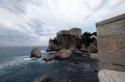 Fort Lovrijenac or St. Lawrence Fortress in Dubrovnik. Croatia Stock Photos