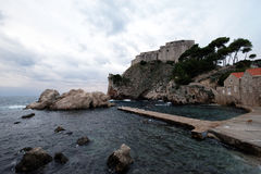 Fort Lovrijenac or St. Lawrence Fortress in Dubrovnik. Croatia Royalty Free Stock Photography
