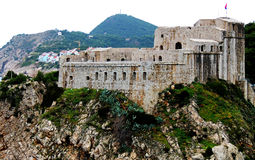 Fort Lovrijenac. View  from Dubrovnik City walls of Fort Lovrijenac Stock Image