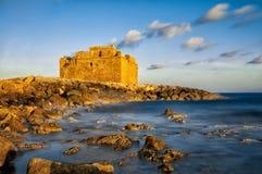 Fort médiéval par la mer Image libre de droits