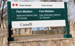 Fort Malden Sign Stock Image