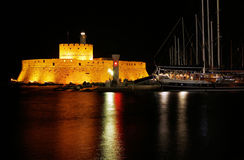 Fort of Mandraki, Rhodes, Greece Royalty Free Stock Images