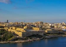 Fort Manoel-Sternfort auf Manoel Island in GÅ-¼ IRA am sonnigen Tag mit blauem Himmel, Malta stockbilder