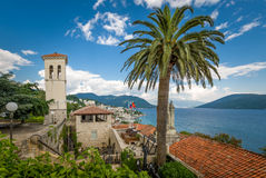 Fort Mare towers and Adriatic sea landscape Stock Photo