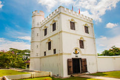 Fort Margherita in Kuching. Sarawak. Malaysia. Borneo. Vintage and old Fort white Stock Images