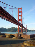 Fort Mason view of Golden Gate Bridge. View of the Golden Gate Bridge in San Francisco from Fort Mason Stock Image