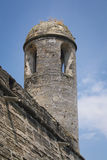 Castillo De San Marcos St. Augustine Florida. Looking up at a tower on the old Fort Matanzas in St. Augustine Florida Royalty Free Stock Image