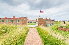 Fort McHenry - Baltimore, MD. Fort McHenry, in Baltimore, Maryland, is a historical American coastal star-shaped fort best known for its role in the War of 1812 Royalty Free Stock Images