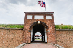 Fort McHenry - Baltimore, MD. Fort McHenry, in Baltimore, Maryland, is a historical American coastal star-shaped fort best known for its role in the War of 1812 Stock Photo