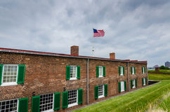 Fort McHenry - Baltimore, MD. Fort McHenry, in Baltimore, Maryland, is a historical American coastal star-shaped fort best known for its role in the War of 1812 Royalty Free Stock Image