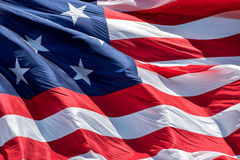 Fort mchenry baltimore usa flag while waving Stock Images