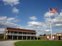 Fort McHenry Courtyard and Flag stock photography