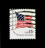 Fort-McHenry-flagga nationsflagga från 1795 till 1818, Americana I Arkivfoton