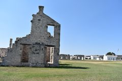 Fort McKavett ruins in Central Texas. This image was taken at Fort McKavett in Central Texas Sept of 2017 Stock Photo