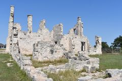 Fort McKavett ruins in Central Texas. This image was taken at Fort McKavett in Central Texas Sept of 2017 Royalty Free Stock Photography