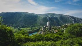 Fort met bergen in Bosnië - Herzegovina Royalty-vrije Stock Afbeelding