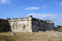 Fort in Mexico. Old guns and fort in Campeche, Mexico Royalty Free Stock Image