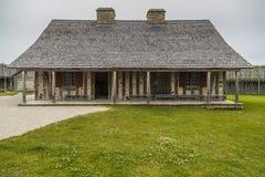 Fort Michilimackinac i den Mackinaw staden Michigan Arkivbild
