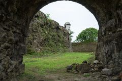 Fort moat in Panama Stock Photography