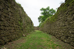 Fort moat in Panama Stock Image