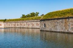 Fort Monroe, Wielki Kamienny fort w Ameryka Zdjęcie Royalty Free