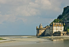 Fort at Mont St. Michel Stock Image