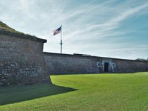 Fort Moultrie. Is a series of fortifications on Sullivan`s Island, South Carolina, built to protect the city of Charleston, South Carolina Stock Images