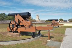 Fort Moultrie. Is a series of fortifications on Sullivan`s Island, South Carolina, built to protect the city of Charleston, South Carolina Royalty Free Stock Photography
