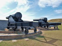 Fort Moultrie. Is a series of fortifications on Sullivan`s Island, South Carolina, built to protect the city of Charleston, South Carolina Stock Image