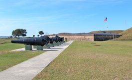 Fort Moultrie. Is a series of fortifications on Sullivan`s Island, South Carolina, built to protect the city of Charleston, South Carolina Royalty Free Stock Photos