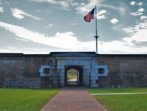 Fort Moultrie sur l'île du ` s de Sullivan photo stock