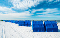 Fort Myers Beach. Cabanas along popular Fort Myers Beach on the west coast of Florida Stock Photo
