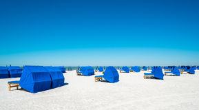 Fort Myers Beach. Cabanas along popular Fort Myers Beach on the west coast of Florida Royalty Free Stock Photography