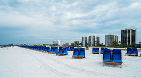 Fort Myers Beach. Cabanas along popular Fort Myers Beach on the west coast of Florida Stock Images