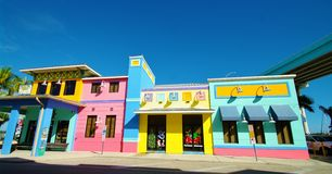 Fort myers beach. Colorful building in fort myers beach Royalty Free Stock Photos