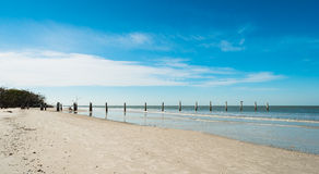 Fort Myers Beach. Rustic decaying pier along Fort Myers Beach on the west coast of Florida Stock Images