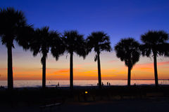 Fort Myers Beach, sunset. Sunset at Fort Myers Beach Stock Photos