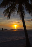 Fort Myers Beach, sunset Royalty Free Stock Images