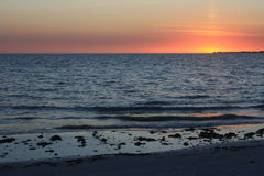 Fort Myers Beach Sunset Arkivfoto