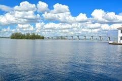 Fort Myers. Bridge, Florida, USA Royalty Free Stock Images