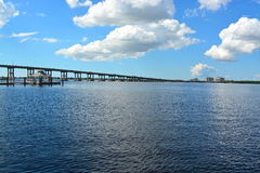 Fort Myers. Florida, bridge linking islands Stock Images