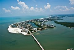 Fort Myers Florida Island Aerial Photo. Looking Suoth to North stock photo