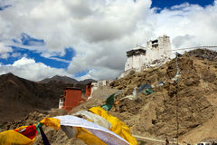 Fort and Namgyal Gompa in Leh Royalty Free Stock Photos