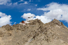 Fort and Namgyal in Leh, Ladakh, India. Fort and Namgyal or red gompa is main Buddhist centre in Leh. Ladakh. India Stock Photography