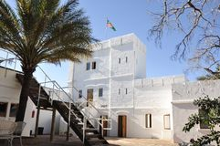 Fort Namutomi in the Etosha National park operated by Namibia Wildlife Resorts NWR. Namibia: The Fort Namutomi in the Etosha National park operated by Namibia stock photography