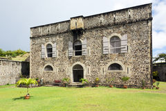 Fort Napoleon, Terre-de-Haut, Guadeloupe Archipelago. Main building of Fort Napoleon on Terre-de-Haut island Royalty Free Stock Photography